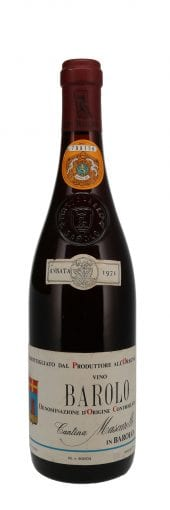 1971 B. Mascarello Barolo 750ml