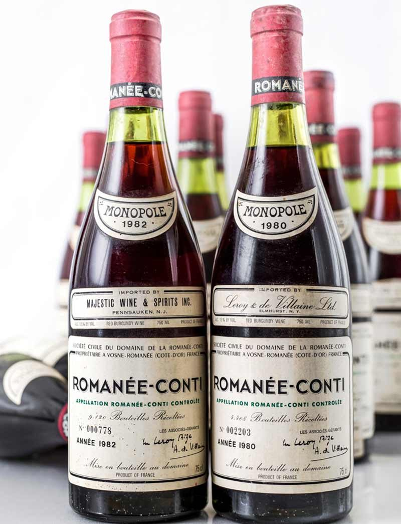 Lot 319, 320: 6 bottles each 1980 and 1982 DRC Romanee Conti