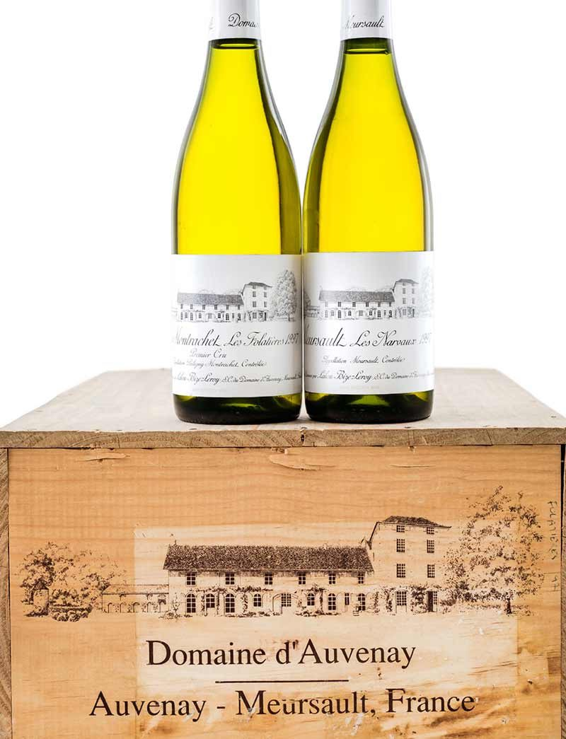 Lot 1084, 1086: 12 bottles each 1997 D'Auvenay Meursault Les Narvaux and Puligny Montrachet Les Folatieres in OWC