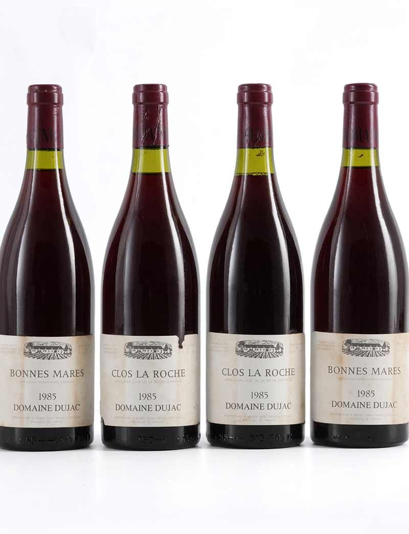 Lot 778, 779: 2 bottles each 1985 Dujac Bonnes Mares and Clos de la Roche
