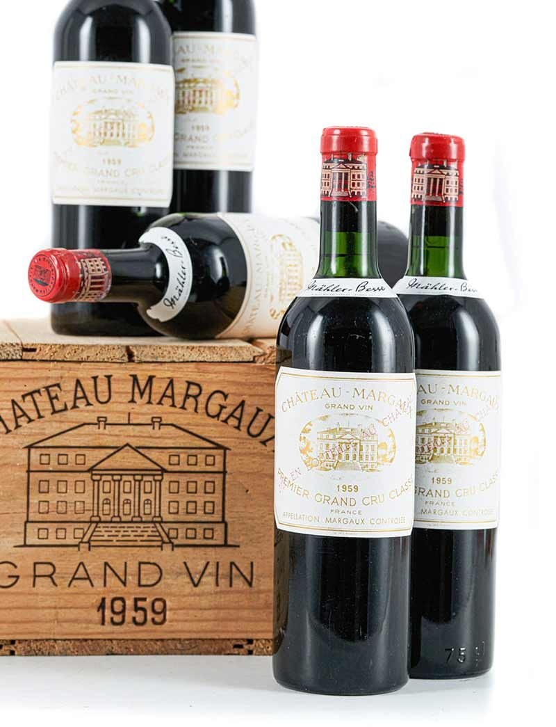 Lot 854: 12 bottles 1959 Chateau Margaux in OWC