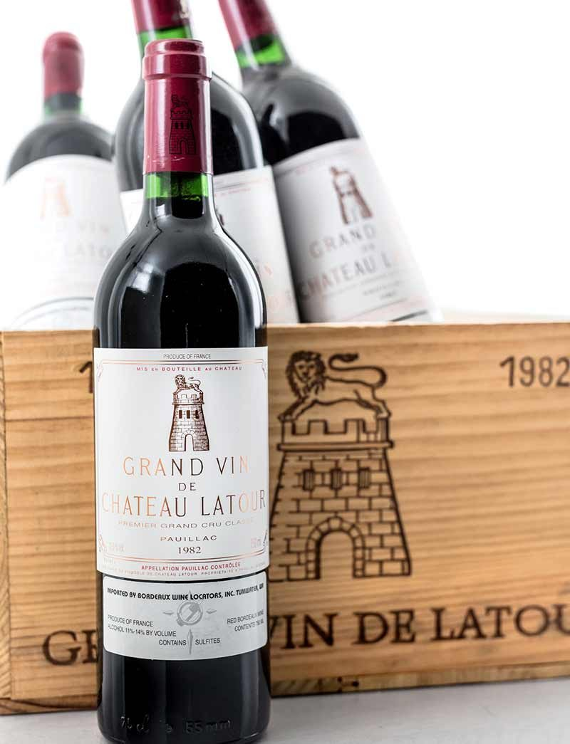 Lot 978: 12 bottles 1982 Chateau Latour in OWC